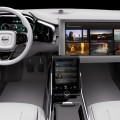 Volvo Cars Concept 26 -2015model - 25-inch flat-screen showing curated media content controlled by tablet interface