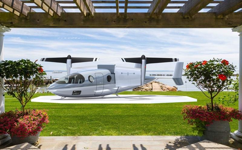 Vy 400R on backyard landing pad