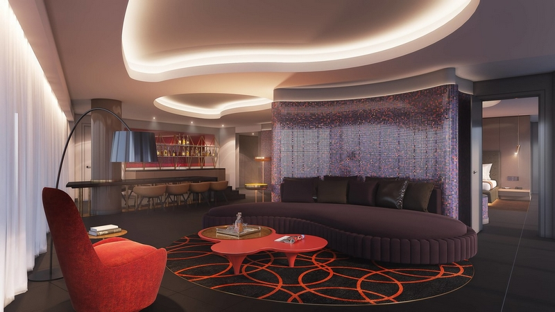 W Dubai - Wow Suite - Living Area