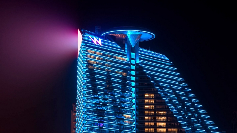 W Xi'an Hotel China Neon Exterior