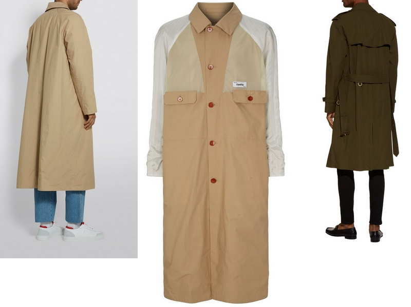 Westminster Heritage Trench Coat by Burberry and Kenzo Reversible Long Trench Coat from pure cotton