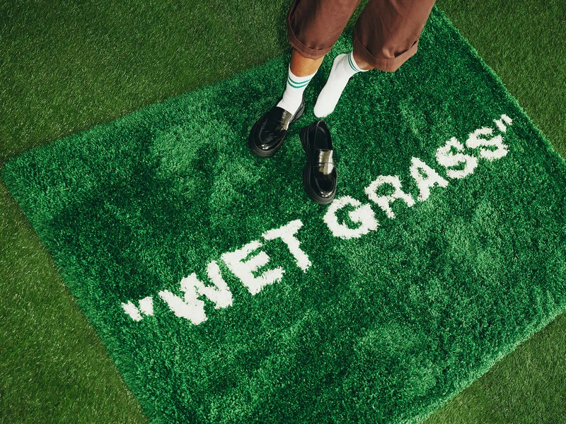Wet Grass - MARKERAD collection, a collaboration between IKEA x Virgil Abloh