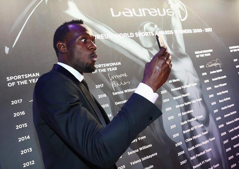Winner of the Laureus World Sportsman of the Year Award Athlete Usian Bolt of Jamaica