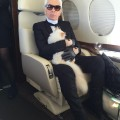 With Karl, Choupette became a frequent Flyer