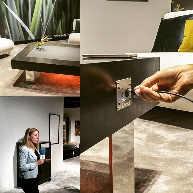 World's first smart solar table generates clean electric energy while you relax-