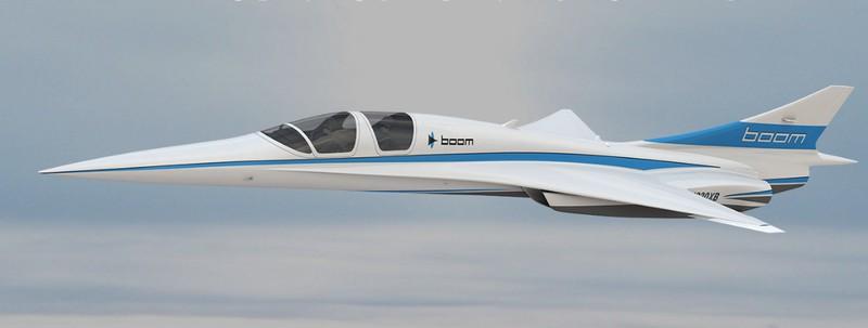 XB-1 supersonic demonstrator in flight