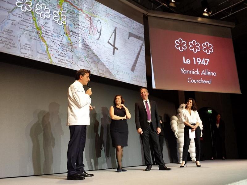 Yannick Alleno's 1947 restaurant in Courchevel awarded three stars in the 2017 MICHELIN guide France-