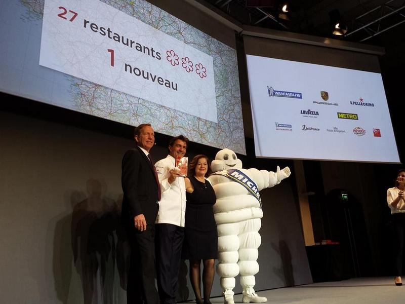 Yannick Alleno's 1947 restaurant in Courchevel awarded three stars in the 2017 MICHELIN guide France--