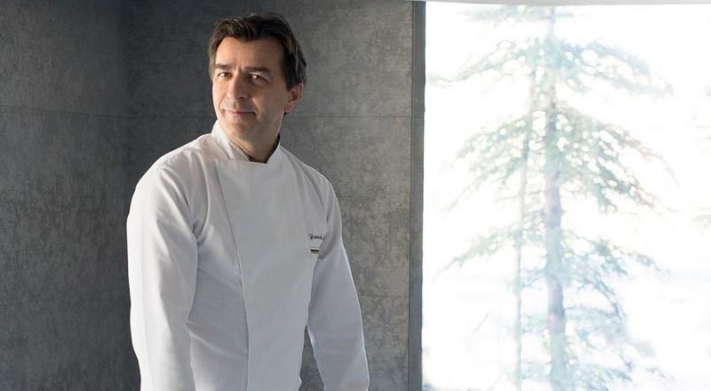 Yannick Alleno 1947 restaurant in Courchevel awarded 3 stars in 2017 MICHELIN guide France--