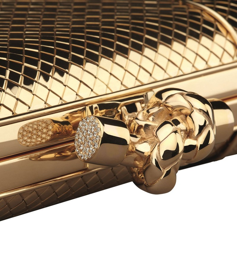 Yellow Gold and Diamond Knot Clutch
