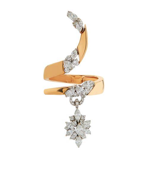 Yeprem Diamond Charm Wrap Ring