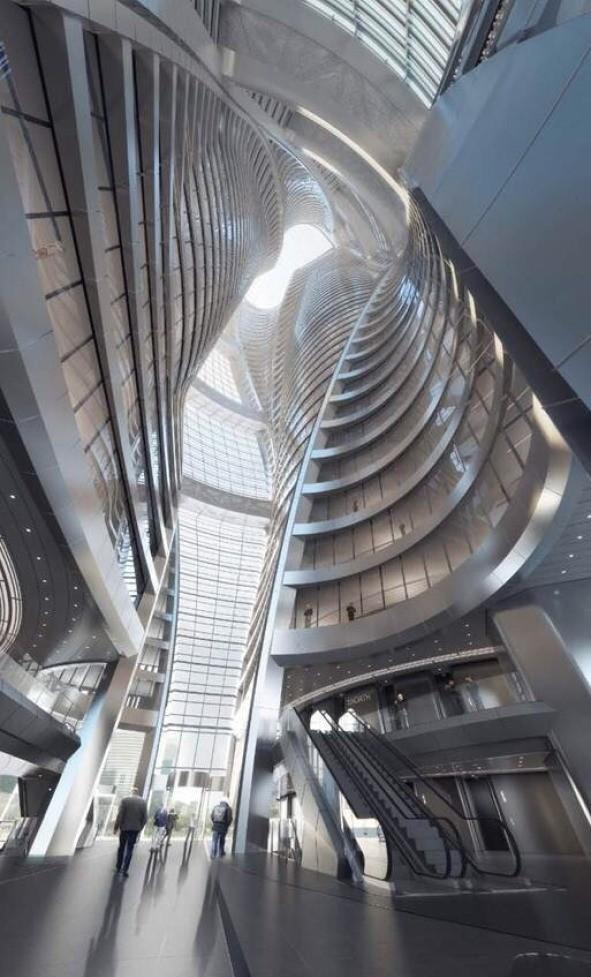 Zaha Hadid's Leeza Soho tower will include the world's tallest atrium - interior photos