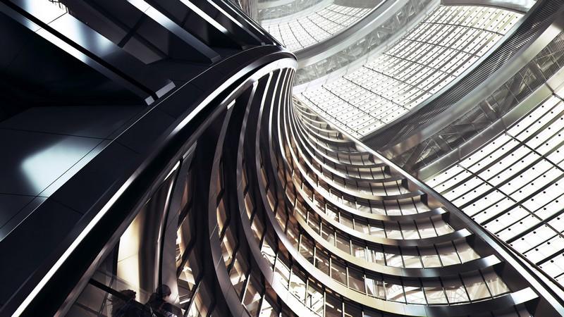 Zaha Hadid's Leeza Soho tower will include the world's tallest atrium - interior
