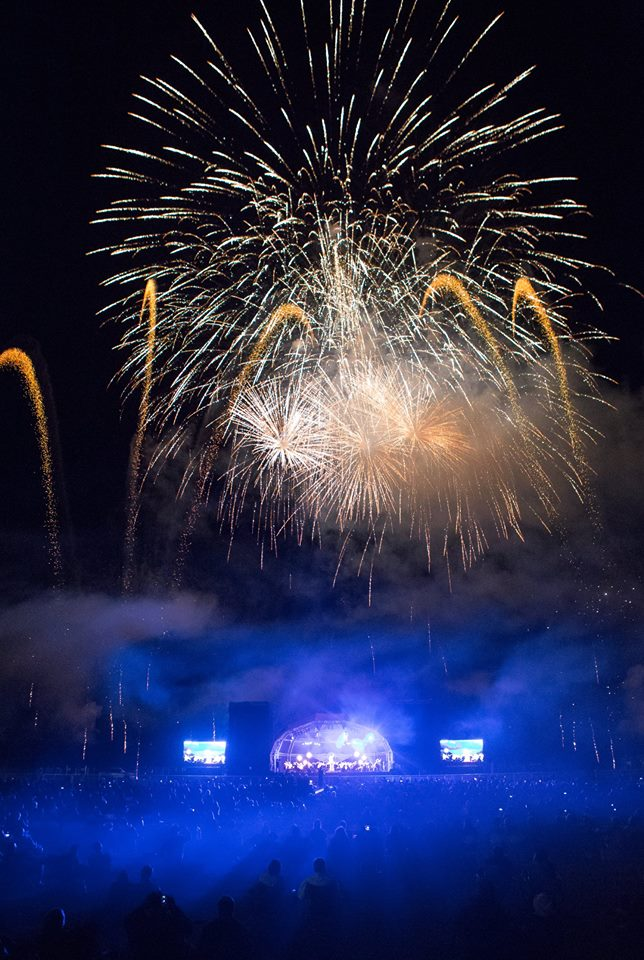 a spectacular firework display as the English Symphony Orchestra played the Morgan Proms at the foot of the Malvern Hills