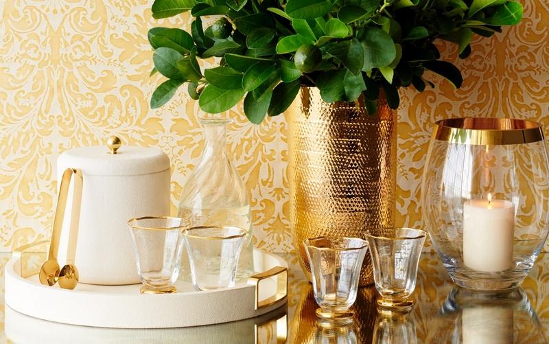 aerin gilded glassware 2019