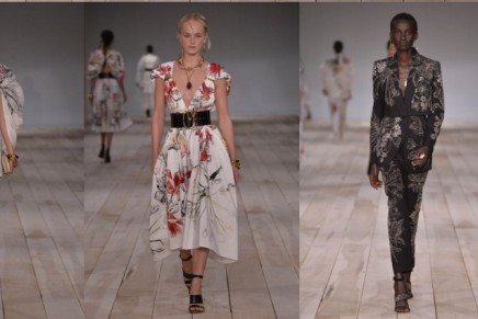 Flowers and Irish field trips on the runway at Alexander McQueen in Paris