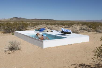 Secret oasis: the artist who's hidden a swimming pool in the desert