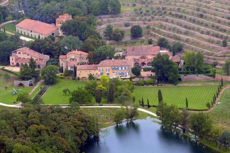 angelina jolie and brat pitt estate in France