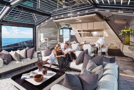 Arcadia 85 US Edition from eco-friendly Italian shipyard Arcadia Yachts