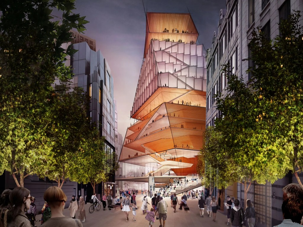 artist's impression of the Centre for Music in London Diller Scofidio + Renfro