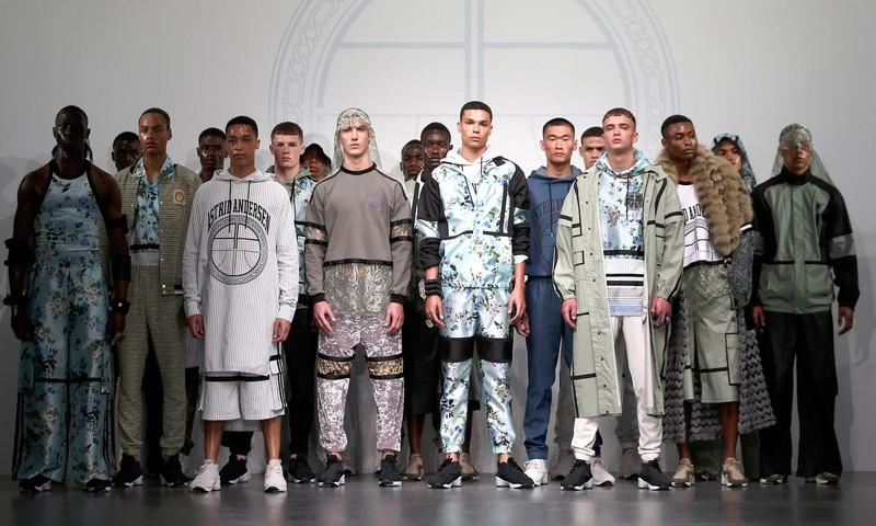 astrid andersen catwalk show at London Men's Fashion Show