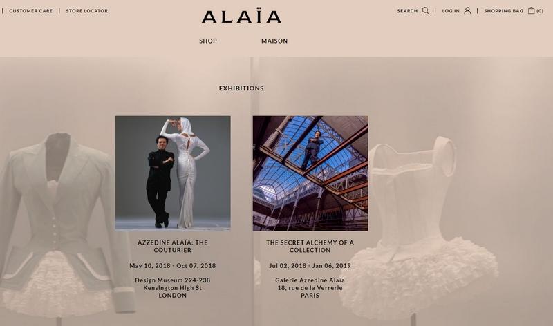 azzedine alaia ecommerce - exhibitions