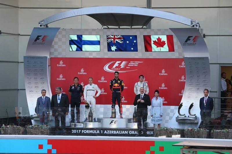 baku city circuit 2017 podium