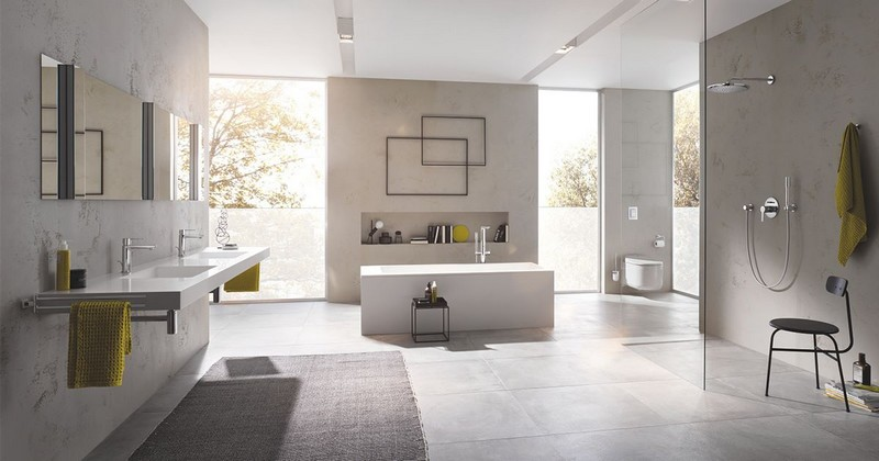 Beautiful GROHE Lineare range includes everything you will need for your bathroom