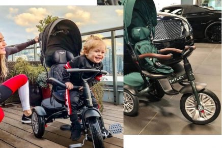 Arrive in style: The limited-edition Bentley trike transforms through six stages to grow with children