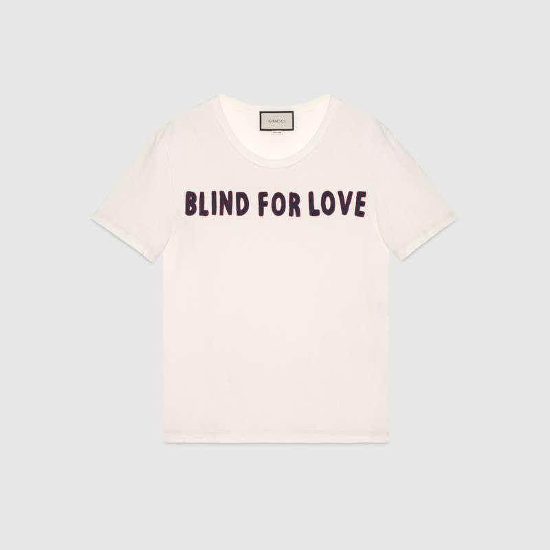 blind for love gucci slogan t-shirt-
