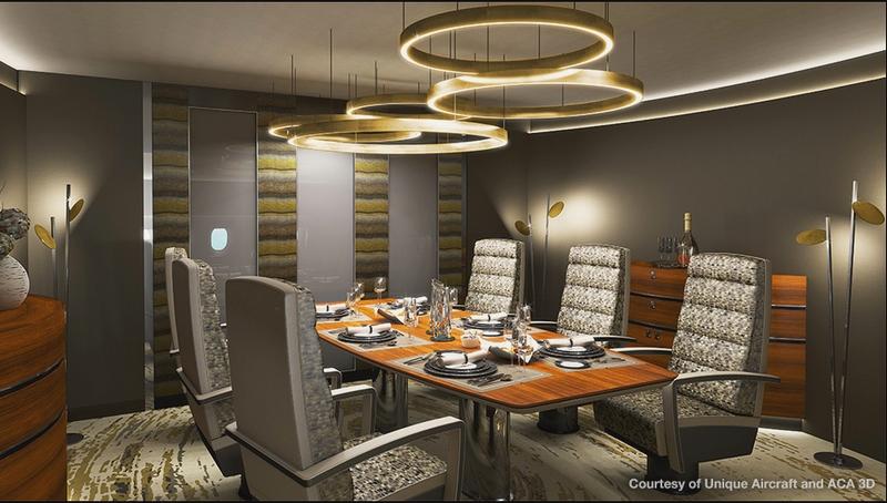 boeing business jet interiors versions