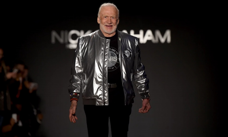 buzz-aldrin on the catwalk