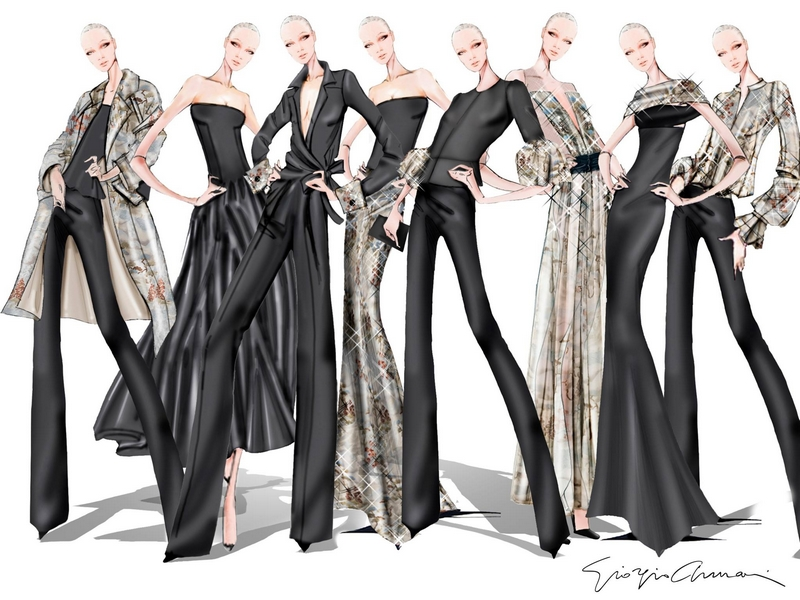 capsule collection that introduces Giorgio Armani's womenswear to NET-A-PORTER-2017