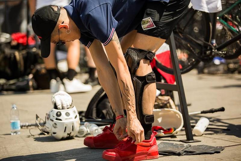 christian louboutin aurelien for bike polo at Pitti Uomo 2017-