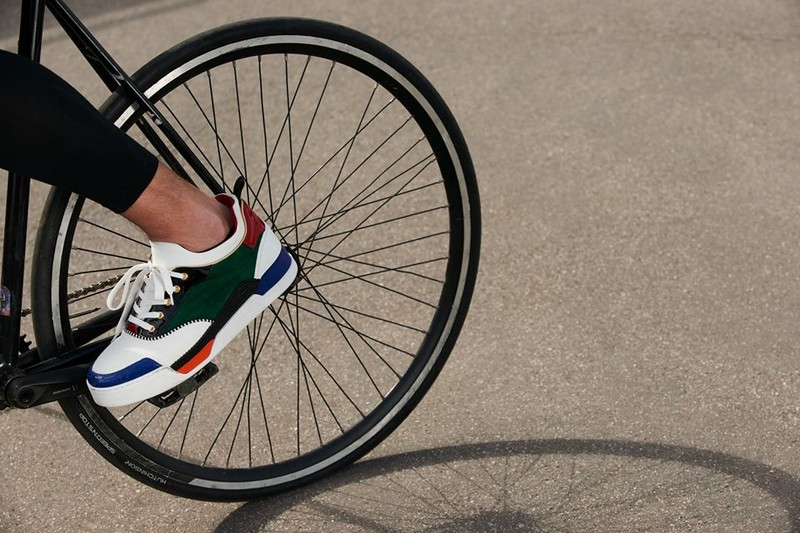 christian louboutin aurelien for bike polo at Pitti Uomo 2017- the shoe in action