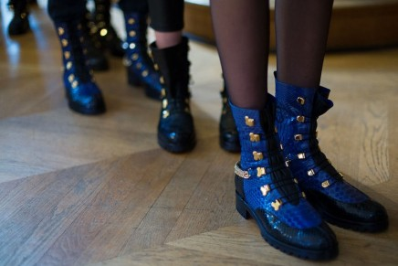 Christian Louboutin dressing red-soled warriors from the past to a future dystopia