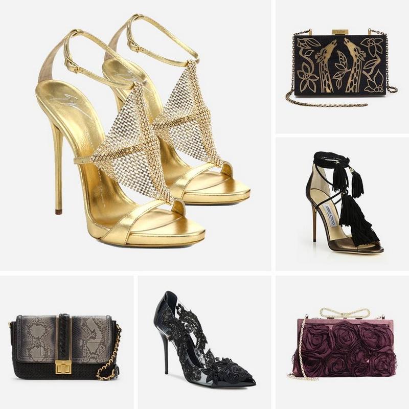 designer shoes and handbags featuring Giuseppe Zanotti Design