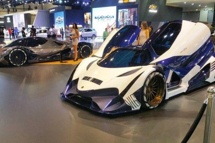 The 5007 HP Devel Sixteen production version launched at Dubai Motor Show 2017