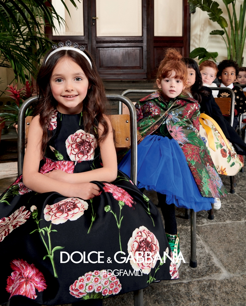 dolce & gabbana fw 2019-2020 kidswear campaign