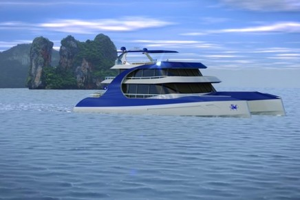 A mansion house on the water – the Dragonship 30 motor yacht super trimaran