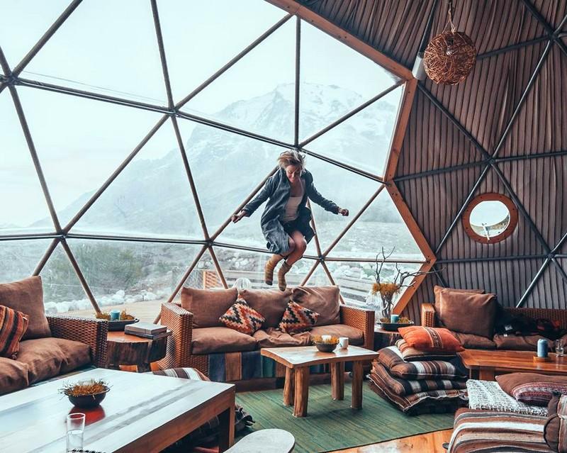 ecocamp patagonia - bar dome