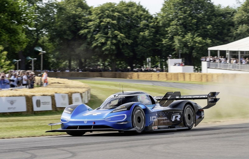 electric Volkswagen ID.R at the Goodwood Festival of Speed UK 2019
