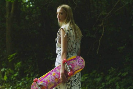 Rolling with Pucci's first ever cinematic skateboard