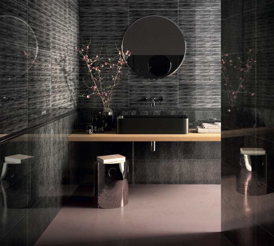examples of bathrooms with shapes and chromatism of extraordinary elegance, furniture always made of Vetrite