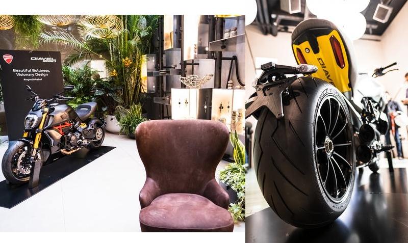 exclusive Ducati Diavel1260 S Materico concept bike built for Milan Design Week 2019-