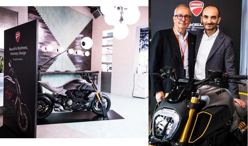 exclusive Ducati Diavel1260 S Materico concept bike built for Milan Design Week 2019
