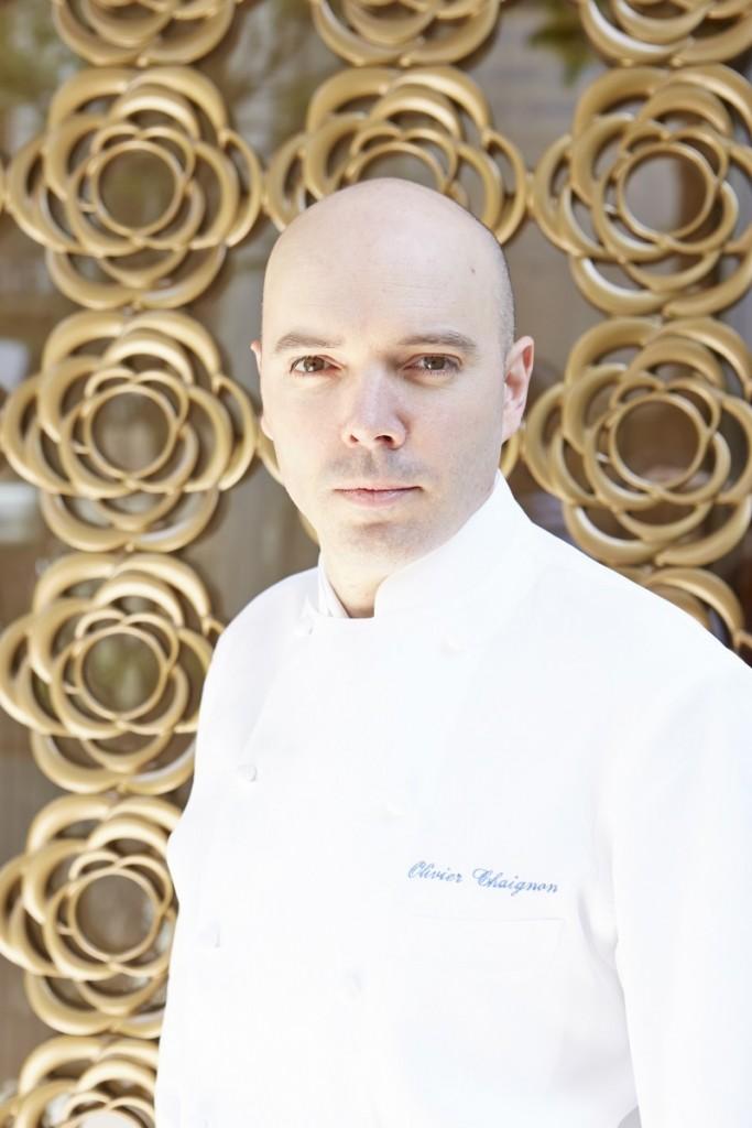 executive chef of L'Osier Olivier Chaignon