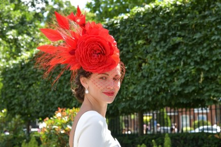 Does a woman with a bath puff in her hair spell the end of the fascinator?