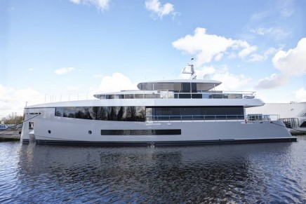 Feadship unveils innovative 34-metre glass covered motoryacht