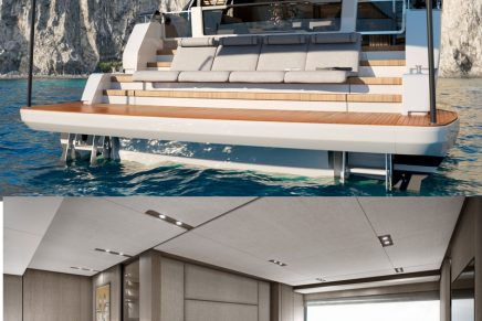 The new Ferretti Yachts 1000 is a magnificent villa surrounded by the waves